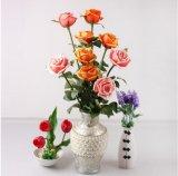 Malaisie artificielle artificielle rose pièces maîtresses de pétales de rose rose PU L'arrangement