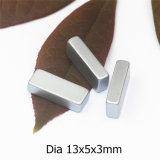 Neodym-Magnet-Abmessung 13X5X3mm des Grad-N48 runde