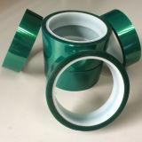 Cintas de PET de alta temperatura de color verde/Pet cinta de enmascarar