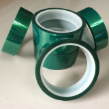 Cinta adhesiva da alta temperatura verde de la cinta del animal doméstico/del animal doméstico