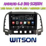 "Witson 9"" на большой экран Android 6.0 DVD для автомобилей Hyundai Santa Fe (2007-2012)"
