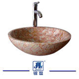 목욕탕을%s 수직 둥근 Mrable 세면기 또는 부엌 또는 화장실
