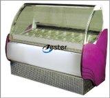 Sorvete Gelato vitrina de exposição de congelador refrigerados Gn1/4 (V18)