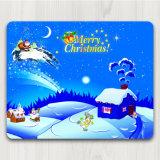Pista de ratón de goma antideslizante modificada para requisitos particulares del juego de Mousepad de la Navidad