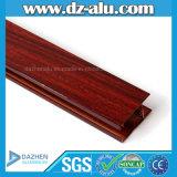 Profil en aluminium des graines en bois pour la porte de guichet