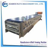 Panneau de toiture double couche machine à profiler pour la vente