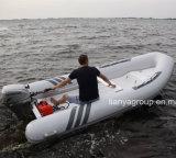 Liya 2.4m-5.2meterの救助艇の肋骨のボートのガラス繊維の漁船