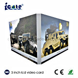 Heiße verkaufen5 Zoll videoc$broschüre-video Karte für Geschäft/Geschenk
