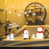 La ventana se aferra las etiquetas engomadas de la etiqueta, blanco de las fuentes del partido de los ornamentos de las decoraciones de la acción de gracias de la Navidad el negro (de oro rojo del color//del verde)