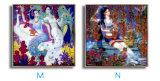 Retrato clássico chinês de venda quente da pintura a óleo da lona de arte da parede para a decoração Home