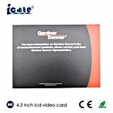 4.3インチのビデオカードかビデオ挨拶状またはビデオ名刺