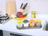 Casella del condimento delle 6315 plastiche per i condimenti & i condimenti Kichenware 3 contenitori