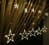 200cm Suitable for connection Outdoor Decorative LED Star String Lights for Festival Celebration