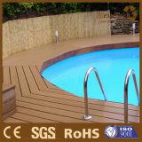 Decking en bois augmenté antidérapage du composé WPC Outddor de Foor de piscine