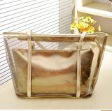 Женская сумка ПВХ пляжа плечо сумку с небольшой косметический летом ясно сумки прозрачный пляж мешки (WDL01115)