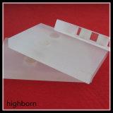 Milchiges weißes Quarz-Glasgefäß mit Flansch