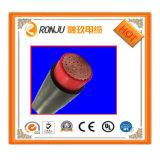 VV solo cable de cobre de la corriente eléctrica de la envoltura del PVC del aislante del PVC del cable 0.6/1kv de la base