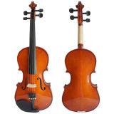 Entrée de violons avec violon brun jaune brillant