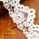 高品質のハンドメイド3D花の刺繍ビーズファブリックレースの卸売