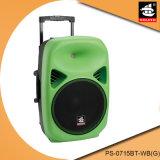 Haut-parleur en plastique coloré PS-0715bt-Wb (G) de batterie de chariot à 15 pouces