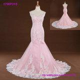 Розовое платье a планок спагеттиа Bridal - линия платье венчания Tulle шнурка