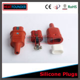 Fiche en caoutchouc de température élevée de silicium approuvé de qualité de la CE