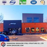 Magazzino multifunzionale prefabbricato di fabbricazione della struttura d'acciaio di basso costo