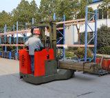 """十分に電力の60 """"上昇2200 Lbロード1.5-2t 4方法倉庫のためのマルチ方向電池の範囲のトラック"""