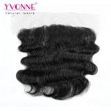 Yvonne-Form Vor-Zupfte Spitze-frontales Karosserien-Wellen-Brasilianer-Haar