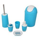 Jnzt-02 Housewareおよびホームプラスチック在庫500PCSが付いている6組の部分の浴室アクセサリそしてセットカラー