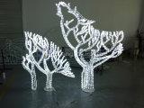 屋外の装飾のためのまた珊瑚および木のモチーフライトオオカミ