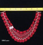 ворот шнурка вышивки 38*27cm красный Scalloped, Applique Hme961 Neckline платья женщин банкета