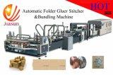 Carpeta automática cosedora Gluer y máquina flejadora