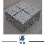Flambé/a rectifié/G603 dégringolé/normal pierre grise de granit de Cubestone/pavé rond/cube pour l'allée