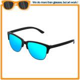 Gli occhiali di protezione di plastica di modo di vetro di Sun del metallo di promozione personalizzano gli occhiali da sole polarizzati