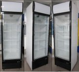 Refrigerador vertical de la visualización de las bebidas del congelador de la puerta de cristal comercial del supermercado (LG-530FM)