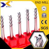Для изготовителей оборудования на заводе Китая со стороны из карбида вольфрама мельницу для алюминиевых деталей режущего аппарата