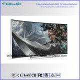 """Super dünner schmaler Aluminiumlegierung 4K der Anzeigetafel-55 """"kleiner MOQ gebogener Fernsehapparat LED"""
