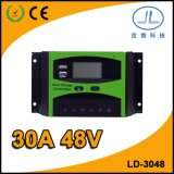 contrôleur intelligent solaire de batterie du pouvoir PWM d'écran LCD de 30A 48V