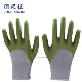 Weiße Nylonarbeits-Handschuhe mit der PU-Palme beschichtet