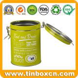معدن مستديرة قصدير سدودة لأنّ طعام وشراب يعبّئ صندوق