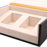 El té de la madera de lujo personalizado Embalaje de regalo Box, caja de té