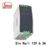 Smun 박사 75 12 75W 12VDC 6A DIN 가로장 엇바꾸기 전력 공급