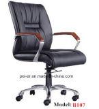 Ergonomischer Büro-Ausgangsmöbel-klassischer Schwenker-lederner Stuhl (PE-B107)