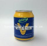 250ml lata de aluminio brillante Sugarless marca de bebida energética carbonatada con vitamina B12, B6. B5, B3B1 y niacina
