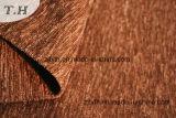 ブラウンの明白なソファーのシュニールファブリック310GSM