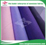 100% virgen PP Spunbond Nonwoven Fabric Alquiler de Material de cubierta de polvo de decisiones