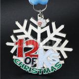 La récompense faite sur commande de Noël a gravé la récompense en alliage de zinc Medaling en métal de sport de logo