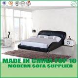 現代ヨーロッパの簡単な革ベッド