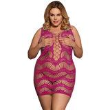 Seis colores en Stock de dos tamaños transparentes Sexy Bodystocking Plus Size